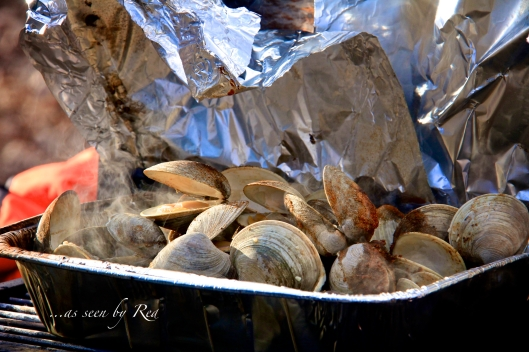 A bit of heaven for seafood lovers.  Not your typical camping grub, but welcomed by all.